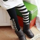 กางเกงเลกกิ้งโบว์ข้าง-สีดำขาว-(5-ตัว-/pack)