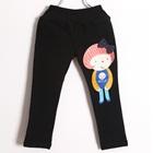 กางเกงขายาวตุ๊กตา-สีดำ-(5-ตัว/pack)