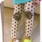 กางเกงเลกกิ้งดอกกุหลาบ-สีขาว-(5-ตัว-/pack)