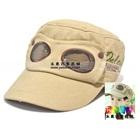 หมวกแก้ปสไตล์นักบิน-สีเบจ-(5-ใบ/แพ็ค)