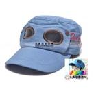 หมวกแก้ปสไตล์นักบิน-สีฟ้าอ่อน-(5-ใบ/แพ็ค)