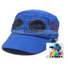 หมวกแก้ปสไตล์นักบิน-สีน้ำเงิน-(5-ใบ/แพ็ค)