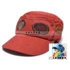หมวกแก้ปสไตล์นักบิน-สีแดง-(5-ใบ/แพ็ค)