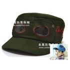 หมวกแก้ปสไตล์นักบิน-สีเขียวเข้ม-(5-ใบ/แพ็ค)
