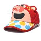 หมวกแก้ปหมีน้อยน่ารัก-สีแดง-(5-ใบ/แพ็ค)