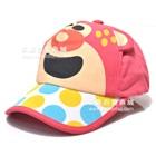 หมวกแก้ปหมีน้อยน่ารัก-สีแดงแตงโม-(5-ใบ/แพ็ค)