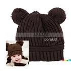 หมวกนิตติ้งกันหนาว-สีน้ำตาลเข้ม-(5-ใบ/แพ็ค)