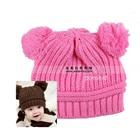 หมวกนิตติ้งกันหนาว-สีชมพู-(5-ใบ/แพ็ค)