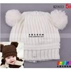 หมวกนิตติ้งกันหนาว-สีขาว-(5-ใบ/แพ็ค)