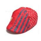 หมวกไร้ปีกหมีน้อย-สีแดง-(5-ใบ/แพ็ค)