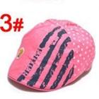 หมวกไร้ปีกหมีน้อย-สีชมพู-(5-ใบ/แพ็ค)