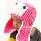 หมวกถักการ์ตูน-สีชมพู-(5-ใบ/แพ็ค)