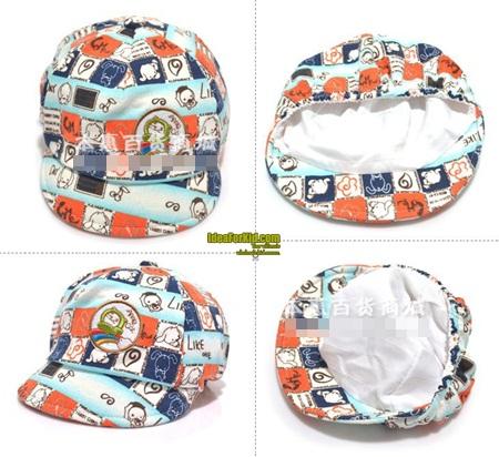 หมวกแก้ปเบสบอล Apple Cat สีเทา (5 ใบ/แพ็ค)