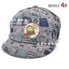 หมวกแก้ปเบสบอล-Apple-Cat-สีเทา-(5-ใบ/แพ็ค)