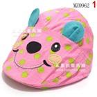 หมวกหมีน้อยไร้ปีก-สีชมพู-(5-ใบ/แพ็ค)