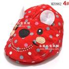 หมวกหมีน้อยไร้ปีก-สีแดง-(5-ใบ/แพ็ค)