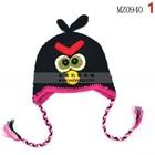 หมวกถัก-Angry-Bird-สีดำ-(5-ใบ/แพ็ค)