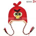 หมวกถัก-Angry-Bird-สีแดง-(5-ใบ/แพ็ค)