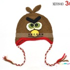 หมวกถัก-Angry-Bird-สีน้ำตาล-(5-ใบ/แพ็ค)