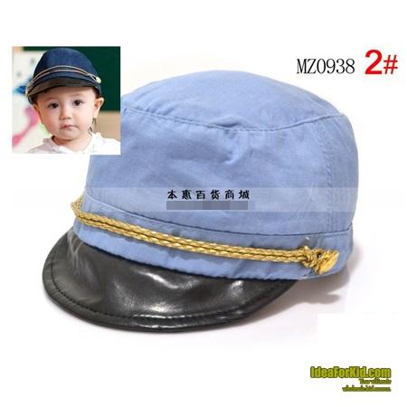 หมวกแก้ปแฟชั่นกัปตันเรือ สีฟ้าอ่อน (5 ใบ/แพ็ค)