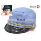หมวกแก้ปแฟชั่นกัปตันเรือ-สีฟ้าอ่อน-(5-ใบ/แพ็ค)
