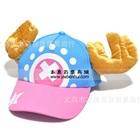 หมวกแก้ปเขากวาง-สีชมพูฟ้า--(5-ใบ/แพ็ค)