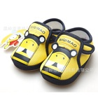 รองเท้าผ้าใบแมวเหมียว-สีเหลือง-(3-คู่/แพ็ค)