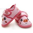 รองเท้าหุ้มส้นหมูน้อยน่ารัก-สีชมพู-(4-คู่/แพ็ค)
