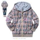เสื้อแจ็กเก็ตแขนยาวลายตาราง-สี-Apricot(6size/pack)