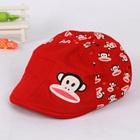 หมวกไร้ปีก-Paul-Frank-สีแดง--(5-ใบ/แพ็ค)