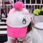 หมวกแก้ปปักตัวการ์ตูน-สีชมพู--(5-ใบ/แพ็ค)