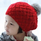 หมวกถักกันหนาว-สีแดง--(5-ใบ/แพ็ค)