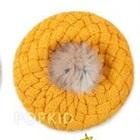 หมวกถักกันหนาว-สีเหลือง--(5-ใบ/แพ็ค)