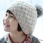 หมวกถักกันหนาว-สีครีม-(5-ใบ/แพ็ค)