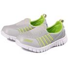 รองเท้าผ้าใบ-Nikk-สีเทาอ่อน-(6-คู่/แพ็ค)
