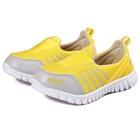 รองเท้าผ้าใบ-Nikk-สีเหลือง-(6-คู่/แพ็ค)