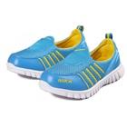 รองเท้าผ้าใบ-Nikk-สีฟ้าเหลือง-(6-คู่/แพ็ค)