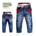 กางเกงยีนส์ขายาวธงชาติสหรัฐ-(5size/pack)