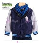 เสื้อแจ๊กเก็ตแขนยาวคนขี่ม้า-สีน้ำเงิน-(5size/pack)