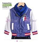 เสื้อแจ๊กเก็ตแขนยาวฝรั่งเศส-สีฟ้า-(5size/pack)