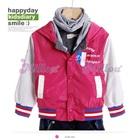 เสื้อแจ๊กเก็ตแขนยาวฝรั่งเศส-สีชมพู-(5size/pack)