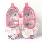 รองเท้าเด็กดอกไม้บาน-สีขาวชมพู-(6-คู่/pack)