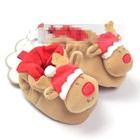 รองเท้าอยู่บ้านกวาง-Christmas-สีน้ำตาล(4-คู่/pack)