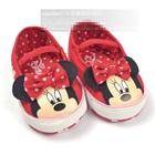 รองเท้าเด็ก-Minnie-Mouse-สีแดง(6-คู่/pack)