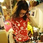 เสื้อแขนยาว-Hello-Kitty-สีแดง-(5size/pack)