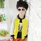 เสื้อแจ็กเก็ตแขนยาว-สีเหลืองขาว-(5-ตัว/pack)
