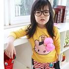 เสื้อแขนยาว-Hello-Kitty-สีเหลือง-(5size/pack)