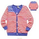คาร์ดิแกนแขนยาวธงชาติสหรัฐ-(5size/pack)