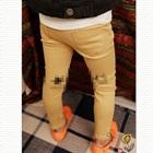 กางเกงขายาวเข้ารูป-สีกากี-(5-ตัว/pack)