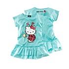 เดรสแขนสั้น-Hello-Kitty-สีฟ้า-(12-ตัว/pack)